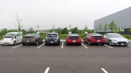 6 Guests at EV Fest 2015 - with their own EV's!