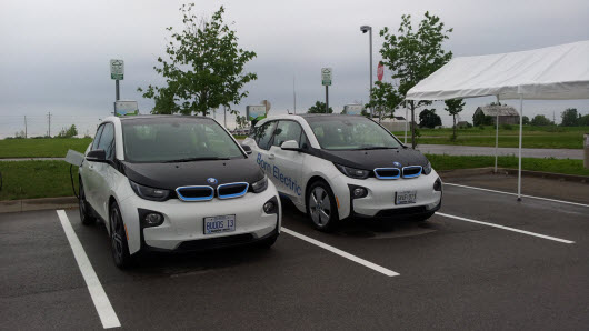 BMW i3 Test Drive Vehicle at EV Fest 2015