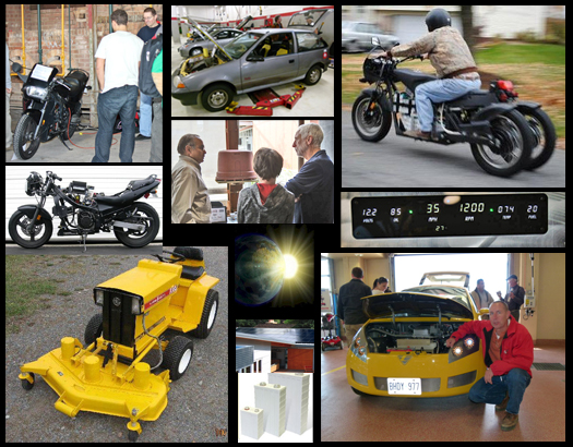 Electric Tractors, Custom EV Motorcycles, EV Prototypes, Motorcycle Conversions, Solar Power, Batteries, and more!