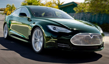 Tim Burrow Green Model S, Plan on getting a test ride in this one!