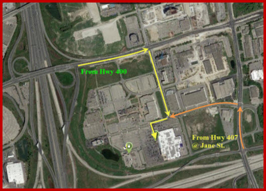 IKEA at Hwy 407, Hwy 400, & Hwy 7, Satellite View