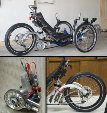 Rob Campbell's Custom Built, Recumbent Electric Trike