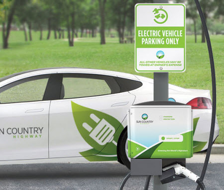 SunCountryHighway Public Level 2 Charging Station