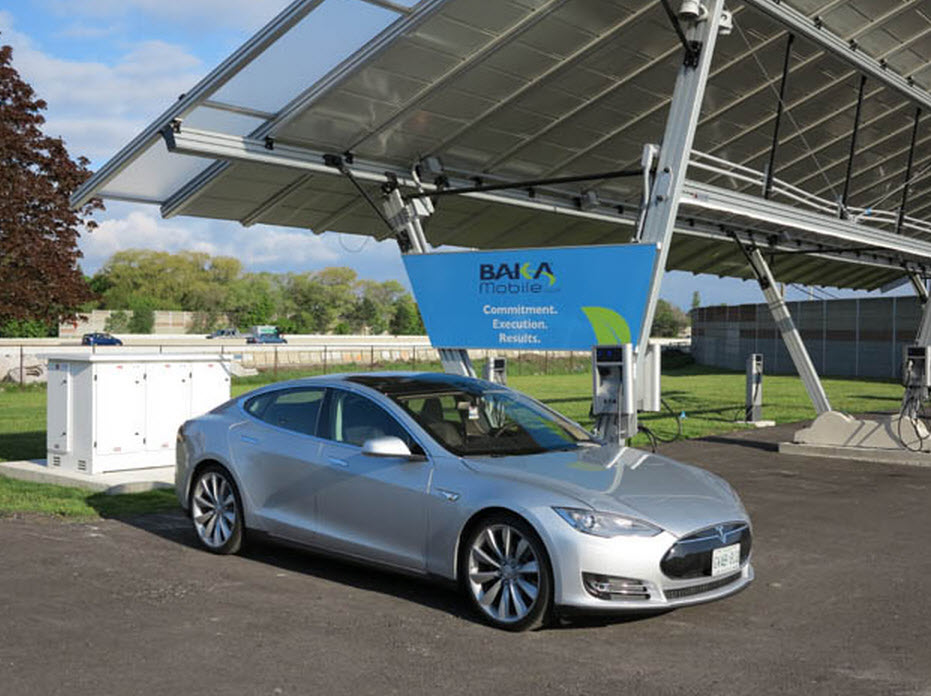Going the Distance in a Solar Powered Tesla Model S