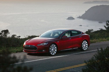 Tesla Models in Signature Red